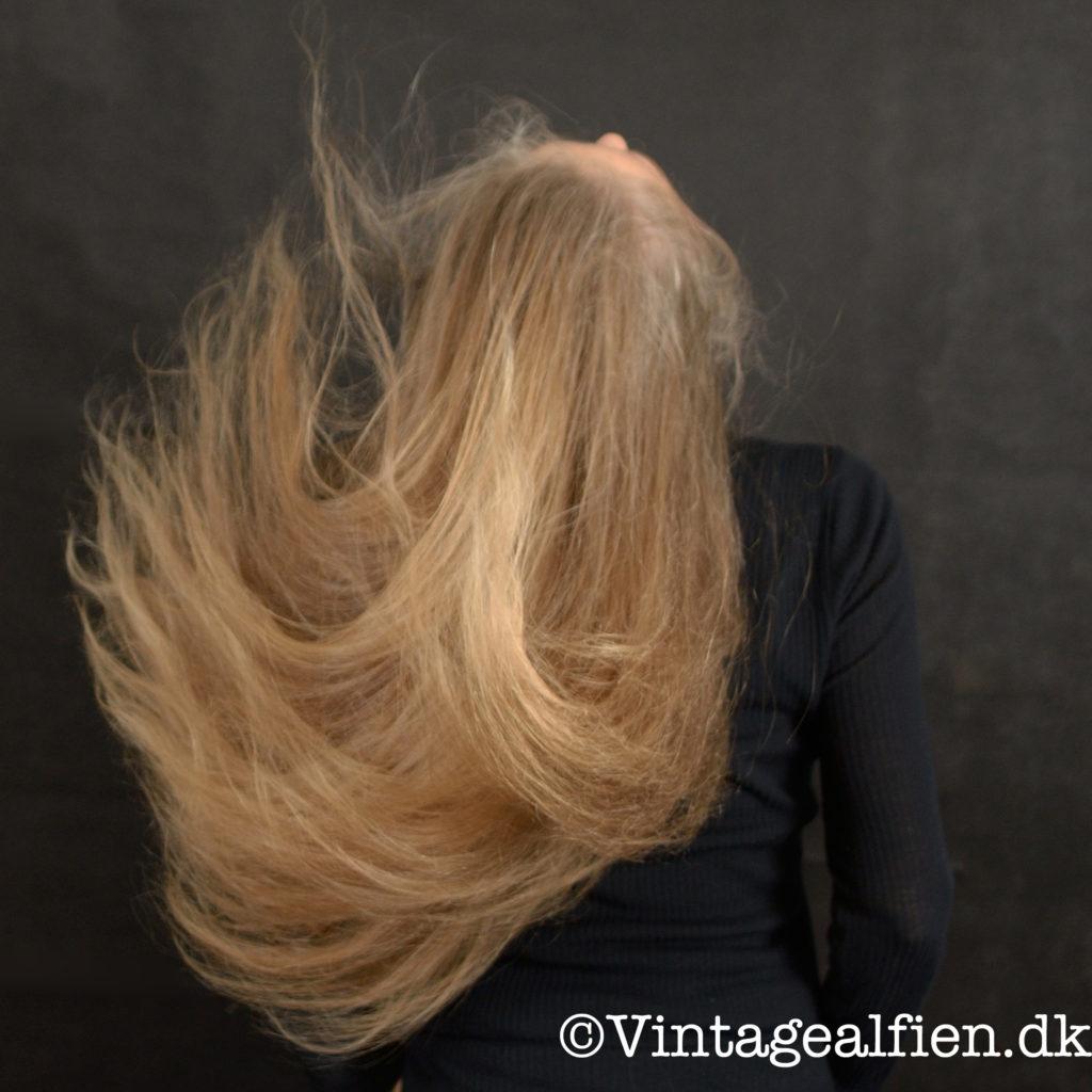 Langt hår som er løst