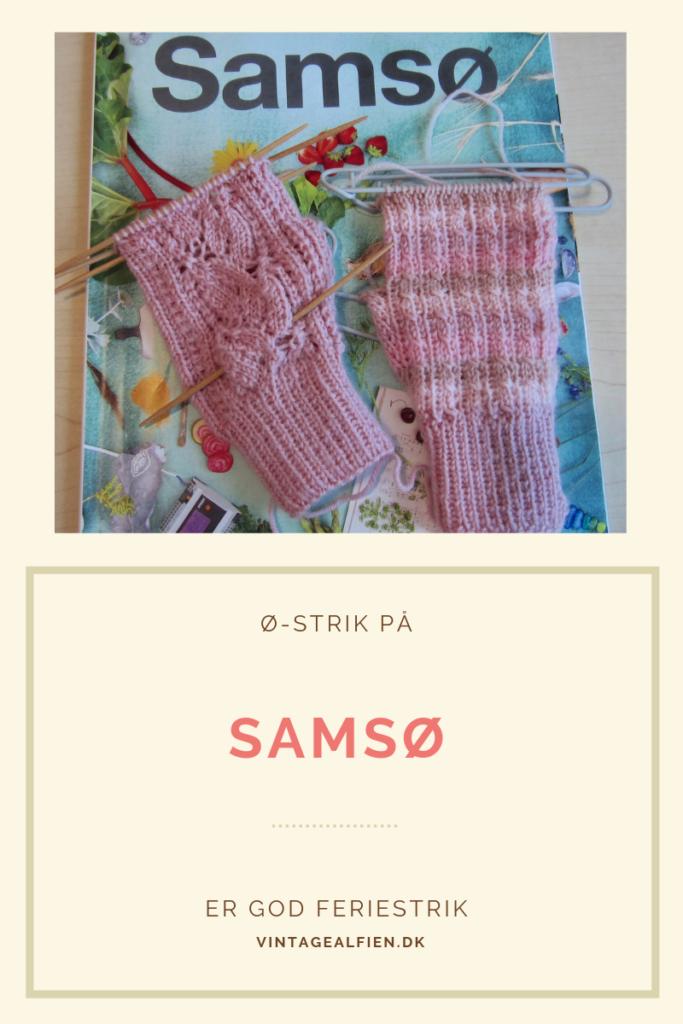 Dette års blad fra Samsø danner baggrund for de to strikkeprojekter