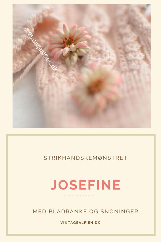 Josefinemønstret til strikhandsker