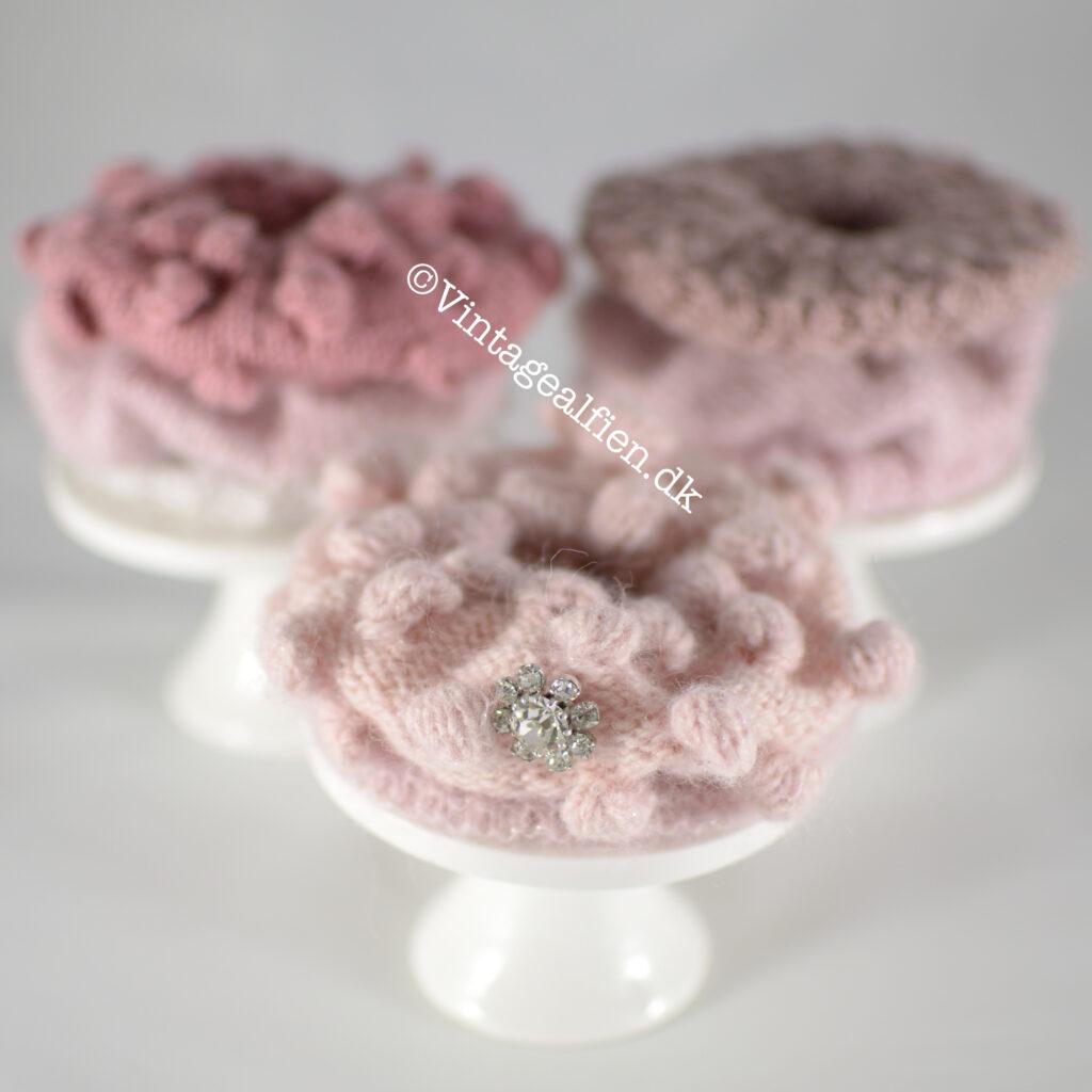 Scrunchies Close-up af en scrunchie med bobler. Syntes de ligner kager