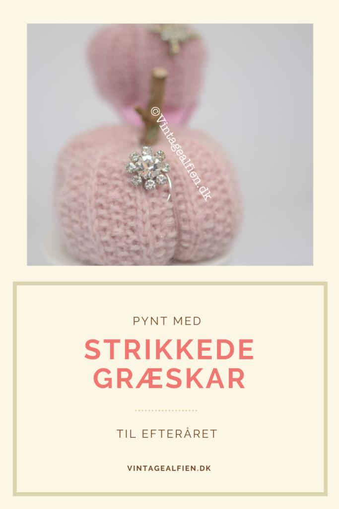 Dette blogindlæg er om hvordan du fremstiller strikkede græskar