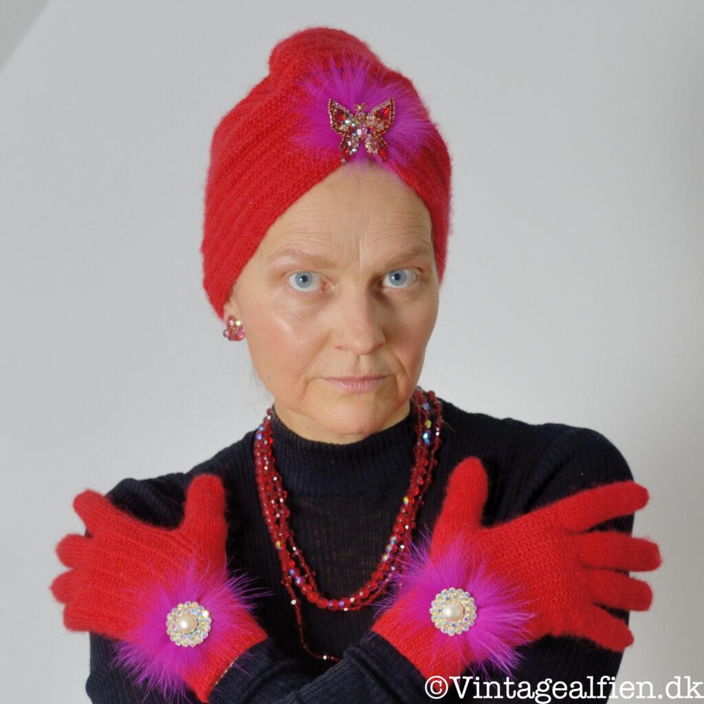 Brugen af en strikket turban rammer lige ned i stilen advanced style